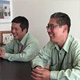 株式会社 坂井建設(サラダホーム) 工務課 (右)部長 黒木様  (左)設計・発注課高岩様